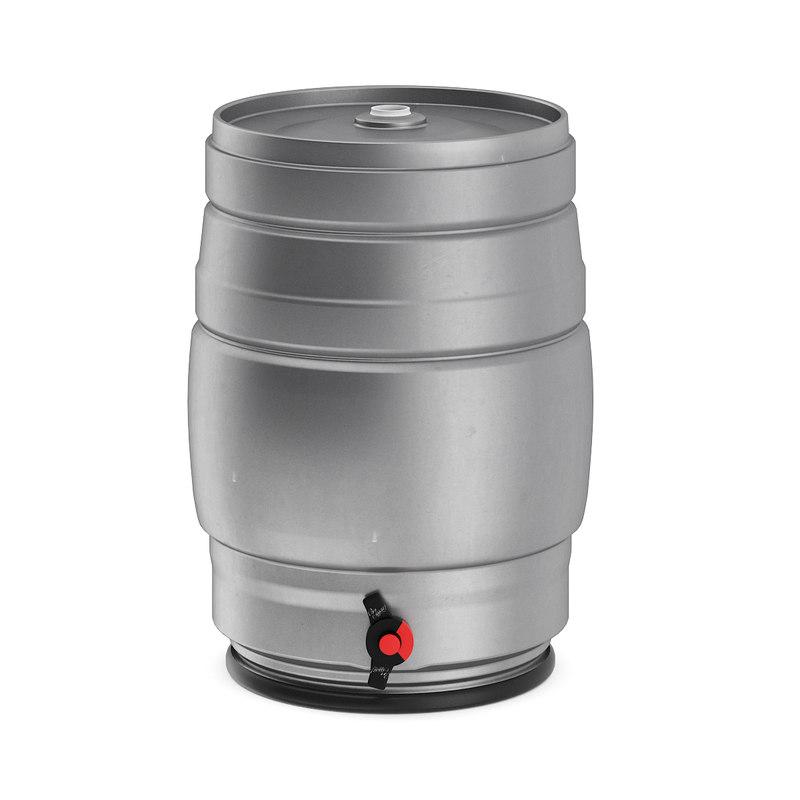 3D metal beer keg model