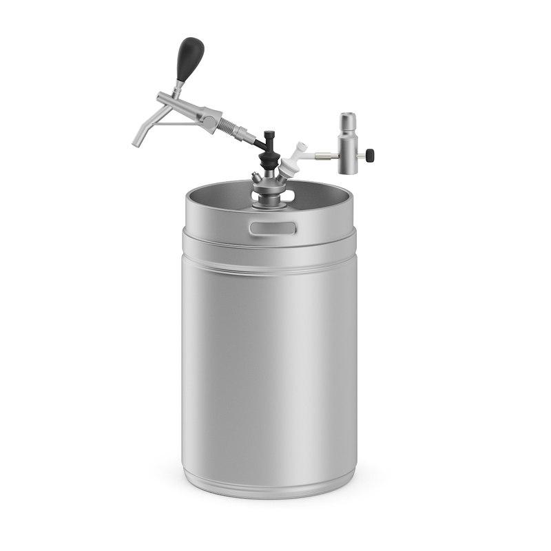 3D metal beer keg
