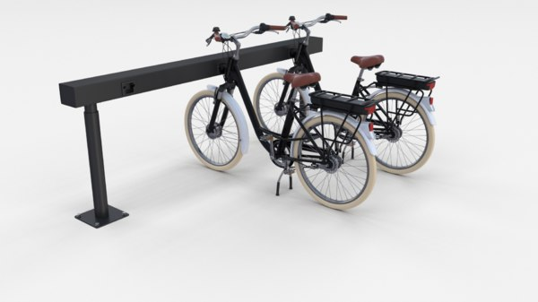 3D model electric bicycle station