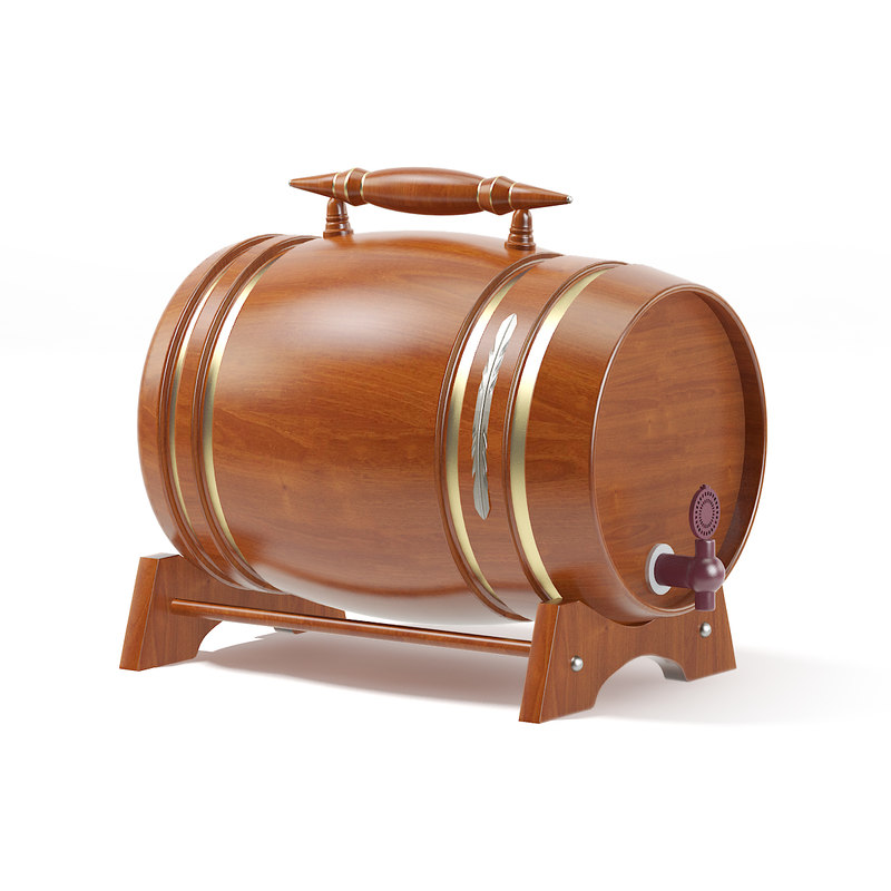 wooden keg 3D model
