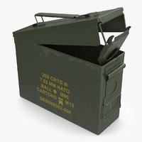 military cartridge box 3D model