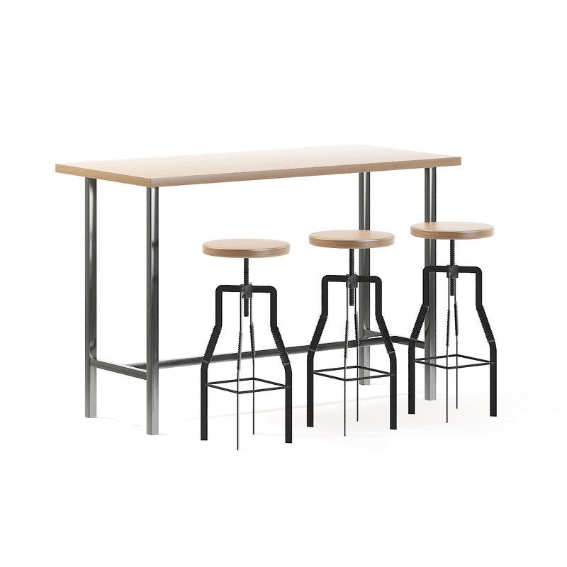 bar table stools model