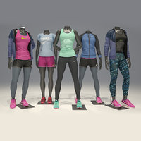 mannequins clothes poses 3D model