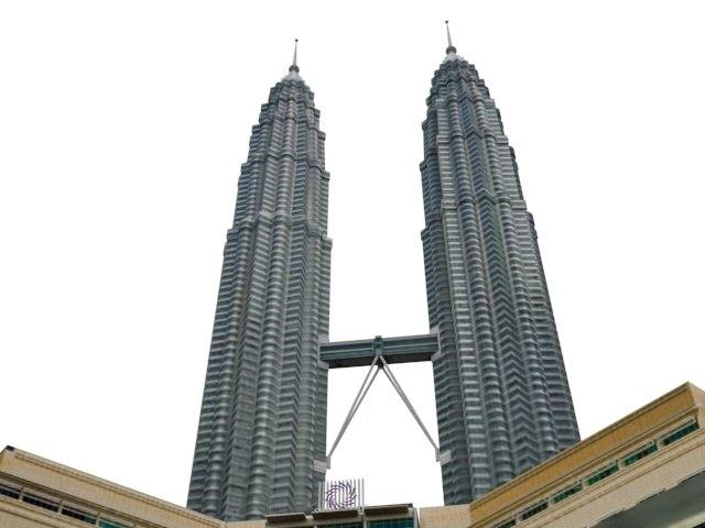 3D petronas towers