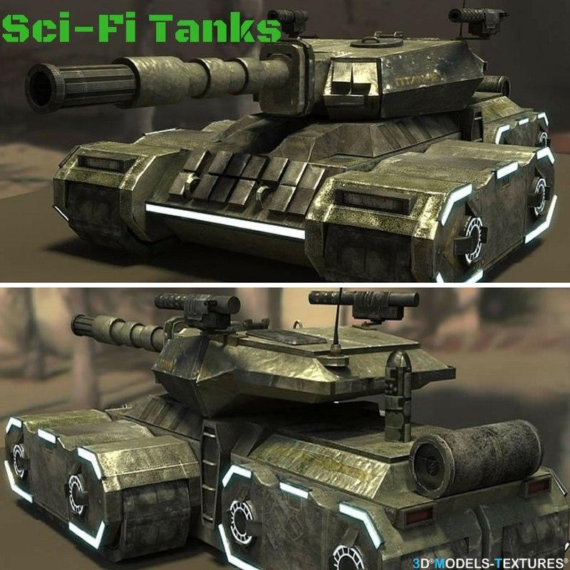 sci-fi tanks 3D