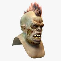 zombie head 3D model