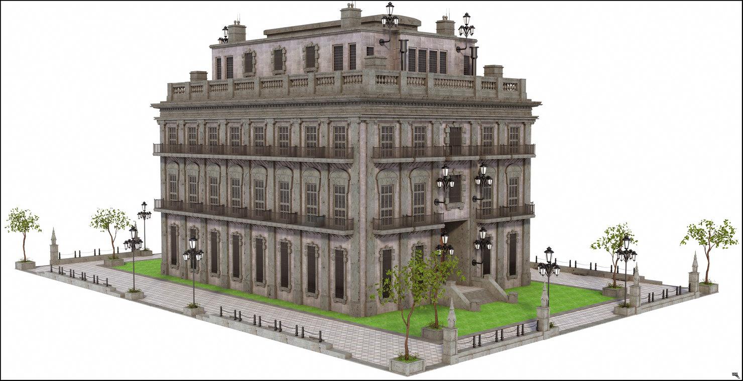3D model modeled scene
