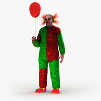 clown horror hellowen 3D model