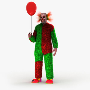 clown horror hellowen 3D model