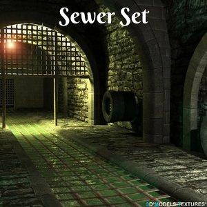 3D sewer set model