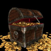 treasure chest with animation
