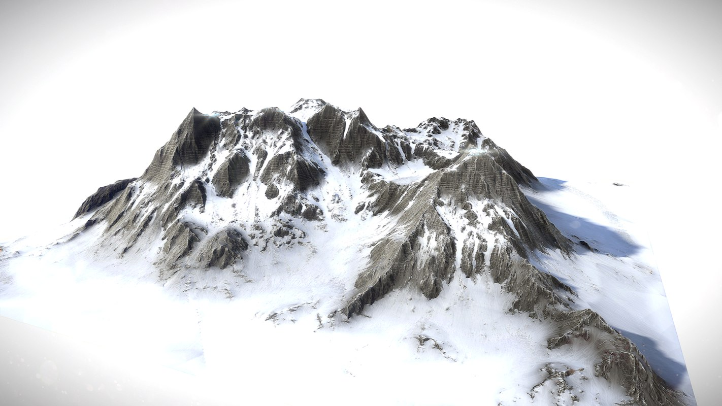 snow mountains 3D model