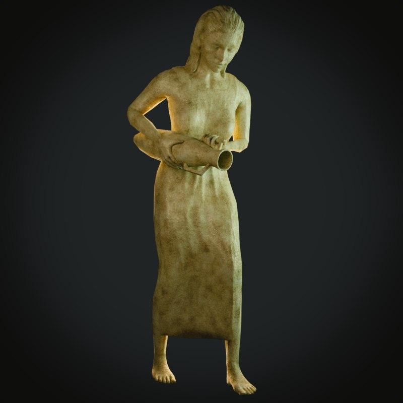 3D model statue female