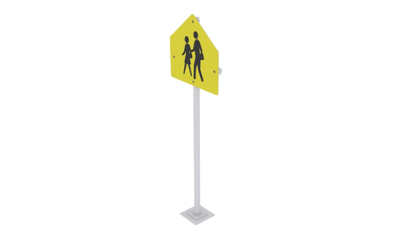 people crossing 3D