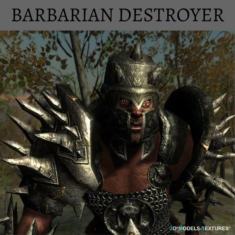 3D barbarian destroyer