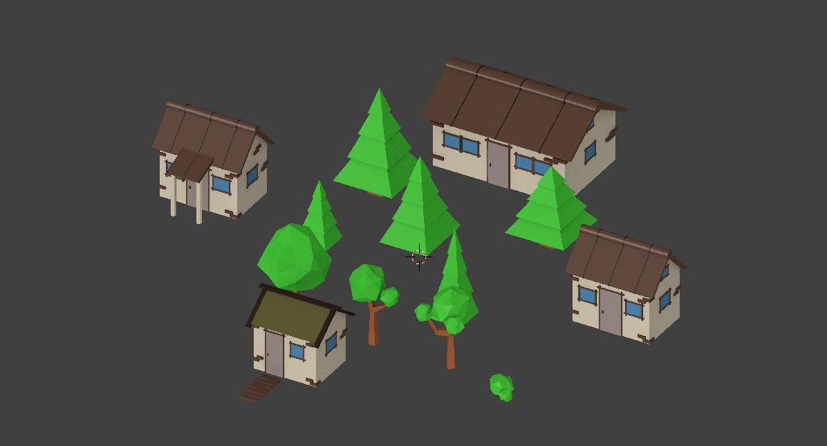 3D village model