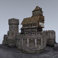 castle tower 3D model