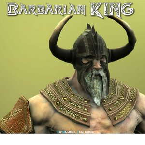 3D barbarian king model