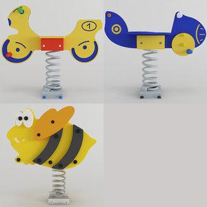 3D spring swing toys