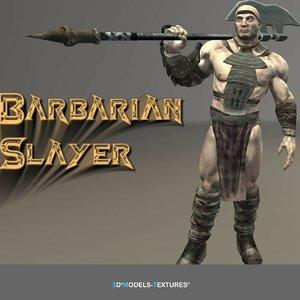 3D model barbarian slayer