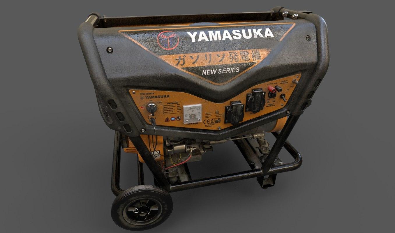 old yamasuka power generator 3D model