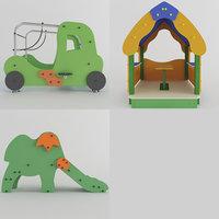 wooden toy playground model
