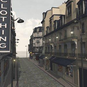 cities street format 3D model