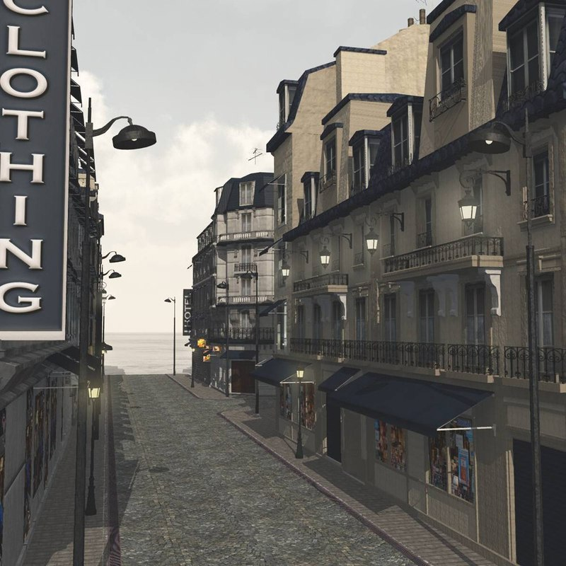 European Street in obj format