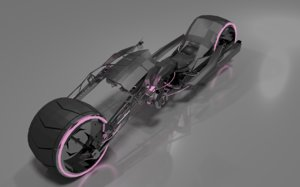 3D futuristic motorcycle concept model