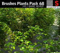 brushes plants pack 68 3D model