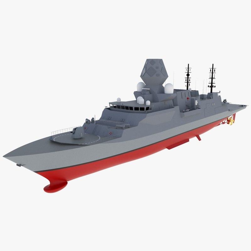 3D type frigate sea 5000