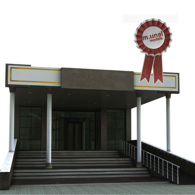 entry building 3D model