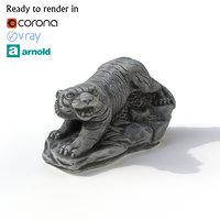 statuette tiger 3D model