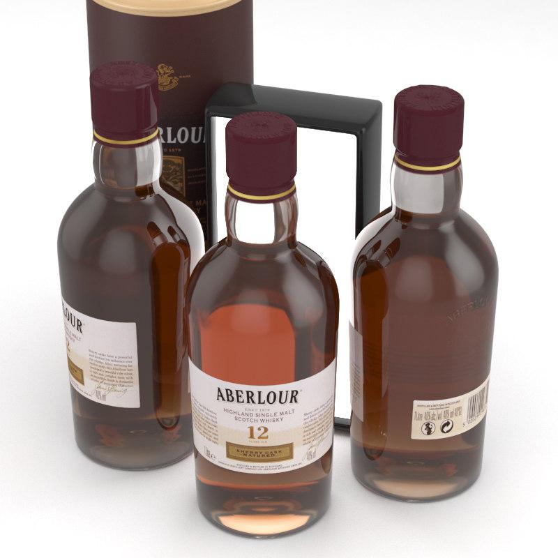 alcohol whisky aberlour 3D model