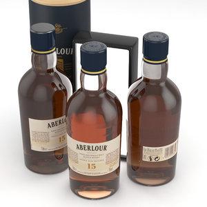 alcohol whisky aberlour 3D