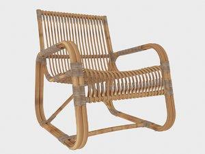 cane line curve loungestol model