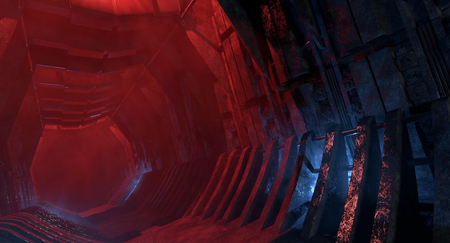 haunted corridor 3D model