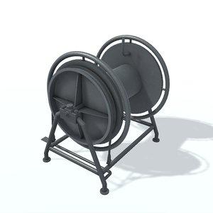 3D model hawser reel