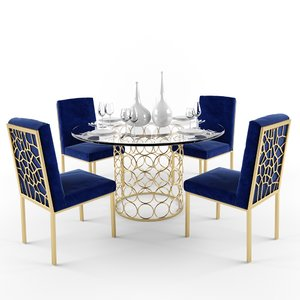 meridian opal dining room 3D model