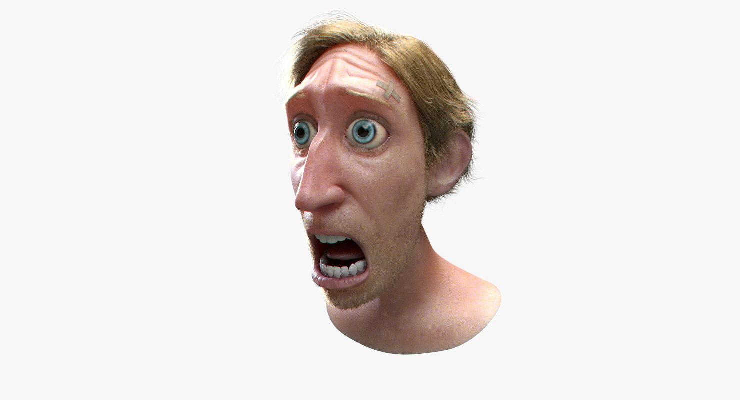 cartoon man head model