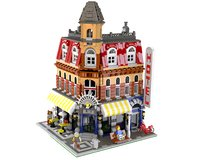3D model lego cafe corner