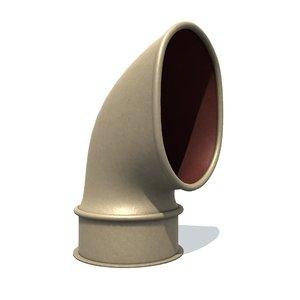 deflector e 3D model