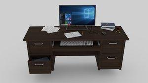 3D officerdesk desk model