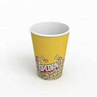 3D popcorn corn pop