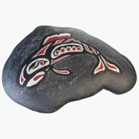 native art salmon 3D model