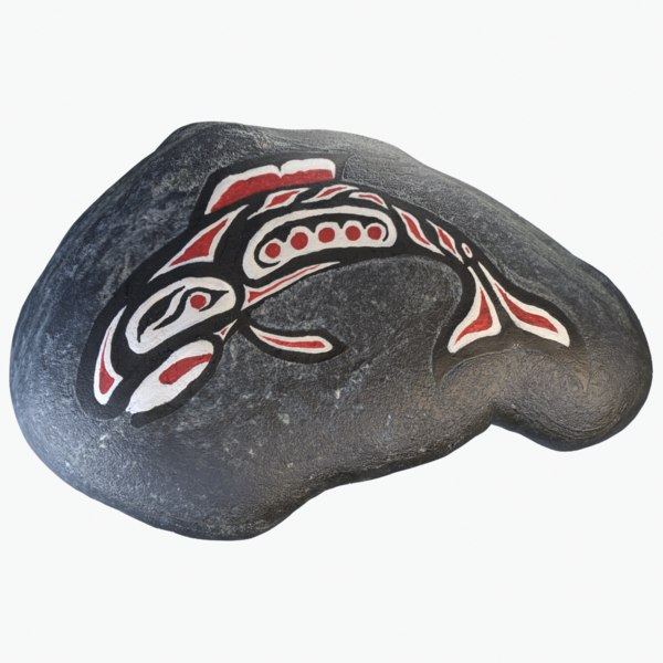 native art salmon 3D model