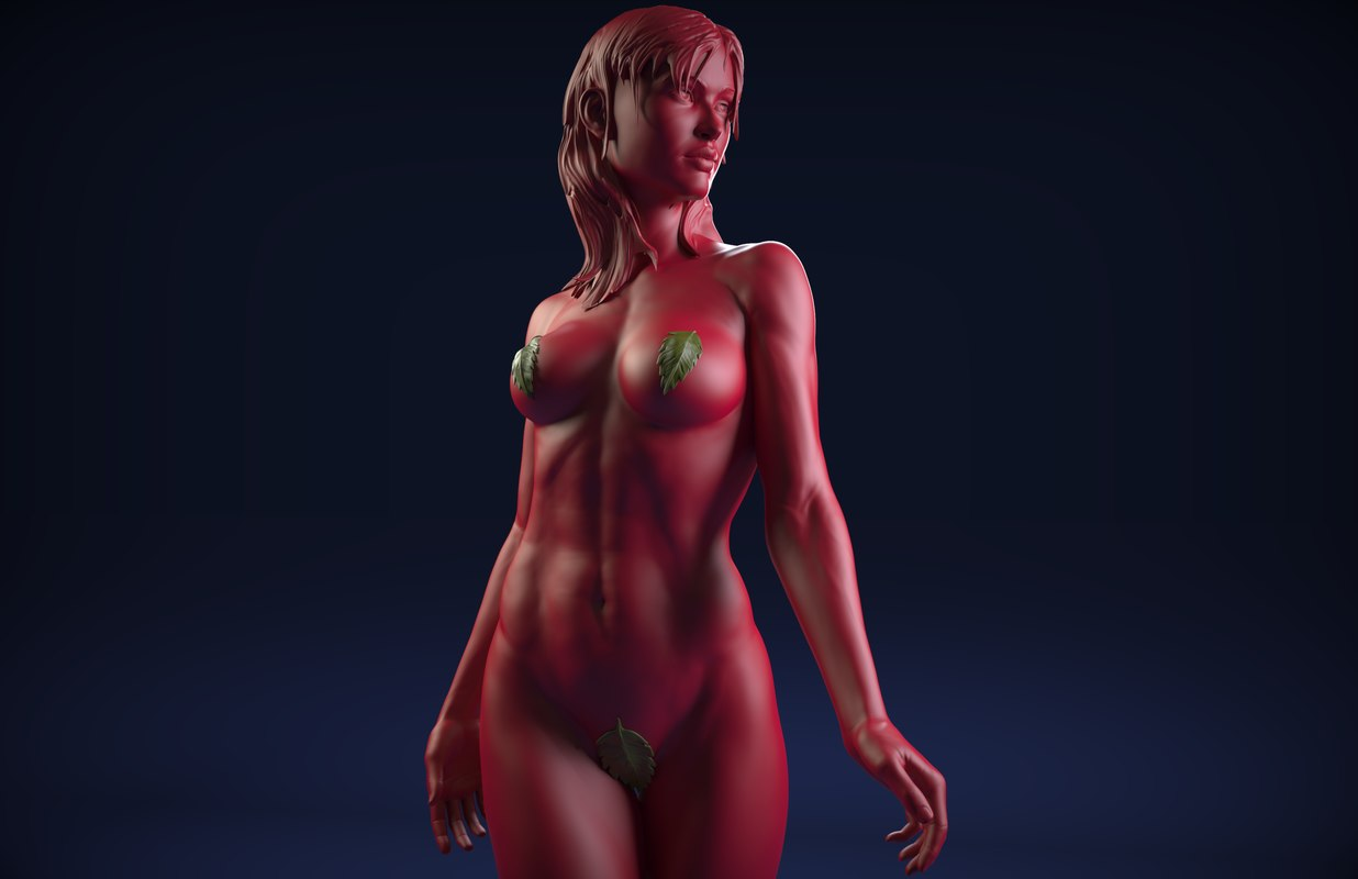 sculpt nude female zbrush ztl model