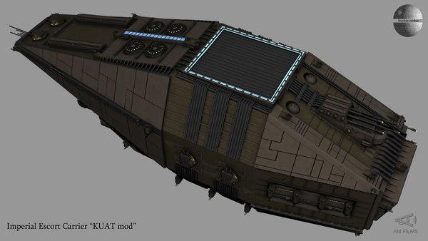 imperial escort kuat transport 3D model