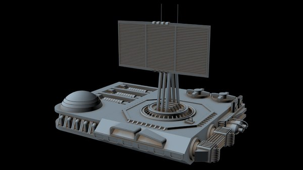 3D sci-fi radar station 1 model