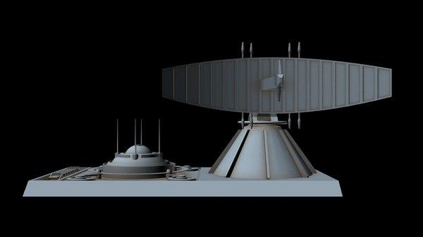 3D sci-fi radar station 2
